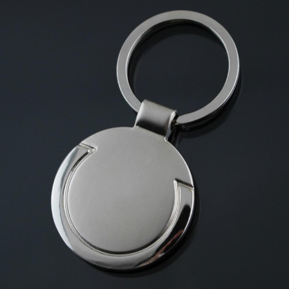 Logotipo personalizado Personalizado Forma Redonda marca de carros de metal  titular do anel chave de cadeia 10ce470d7c