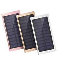 2018 New Design High Capacity Dual Output Interface Li-polymer Battery Slim 10000mah Solar Power Bank