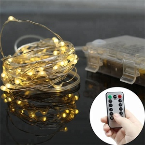 Christmas Copper Wire Battery Operated Fairy String Lights Indoor with Remote
