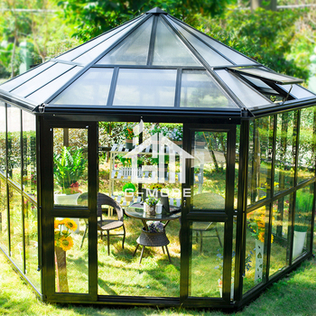 G-MORE Newest Aluminium Profile + Tempered Glass + PC Luxury Hexagon Shape Sun Room (GM36002)
