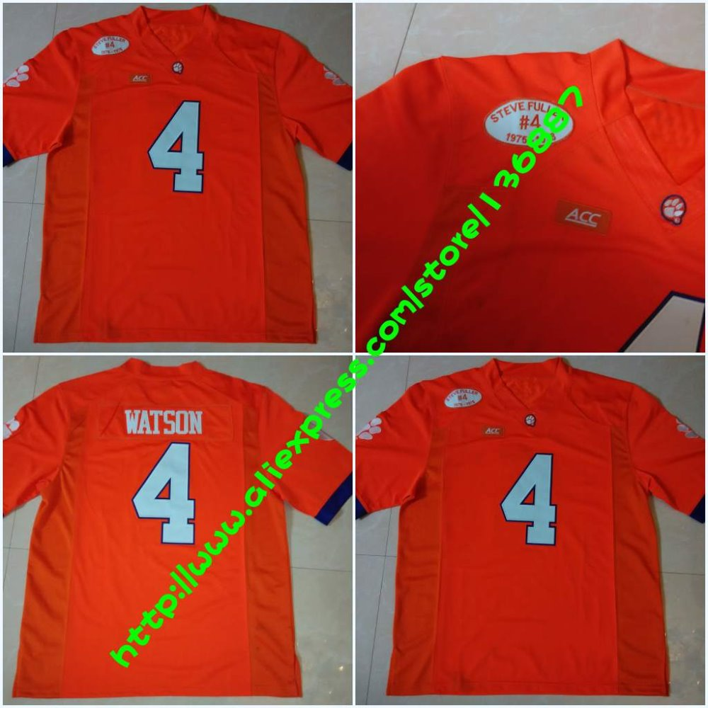 ... usa 4 deshaun watson orange 2016 national championship stitched ncaa  jersey pinterest clemson tigers clemson football ceb76a311