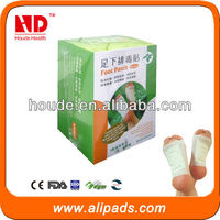 Special formula!high quality Bamboo Vinegar Foot Patch With FDA CE Approved OEM ODM Service