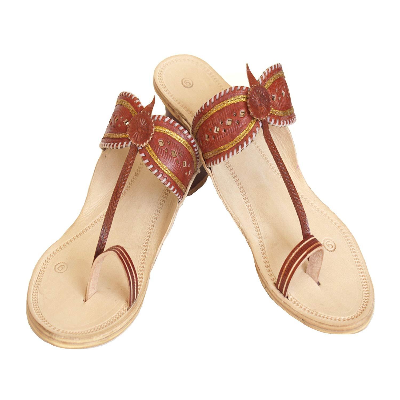 895c3f7dc7147 Get Quotations · Handmade kolhapuri leather sandals