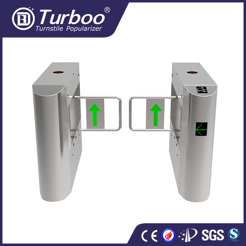 Secure passage factory used outdoor turnstile 304 stainless steel swing barrier gate/ door