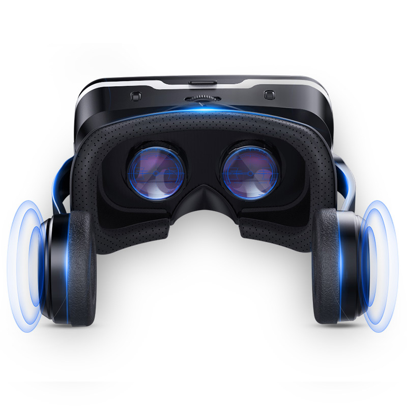 Vr Headset with wireless joystick 3d glasses Virtual Reality Headset for VR Games and 3D Movies