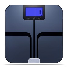 Low battery & overload indication analysis human weighing 6mm tempered glass body fat scale