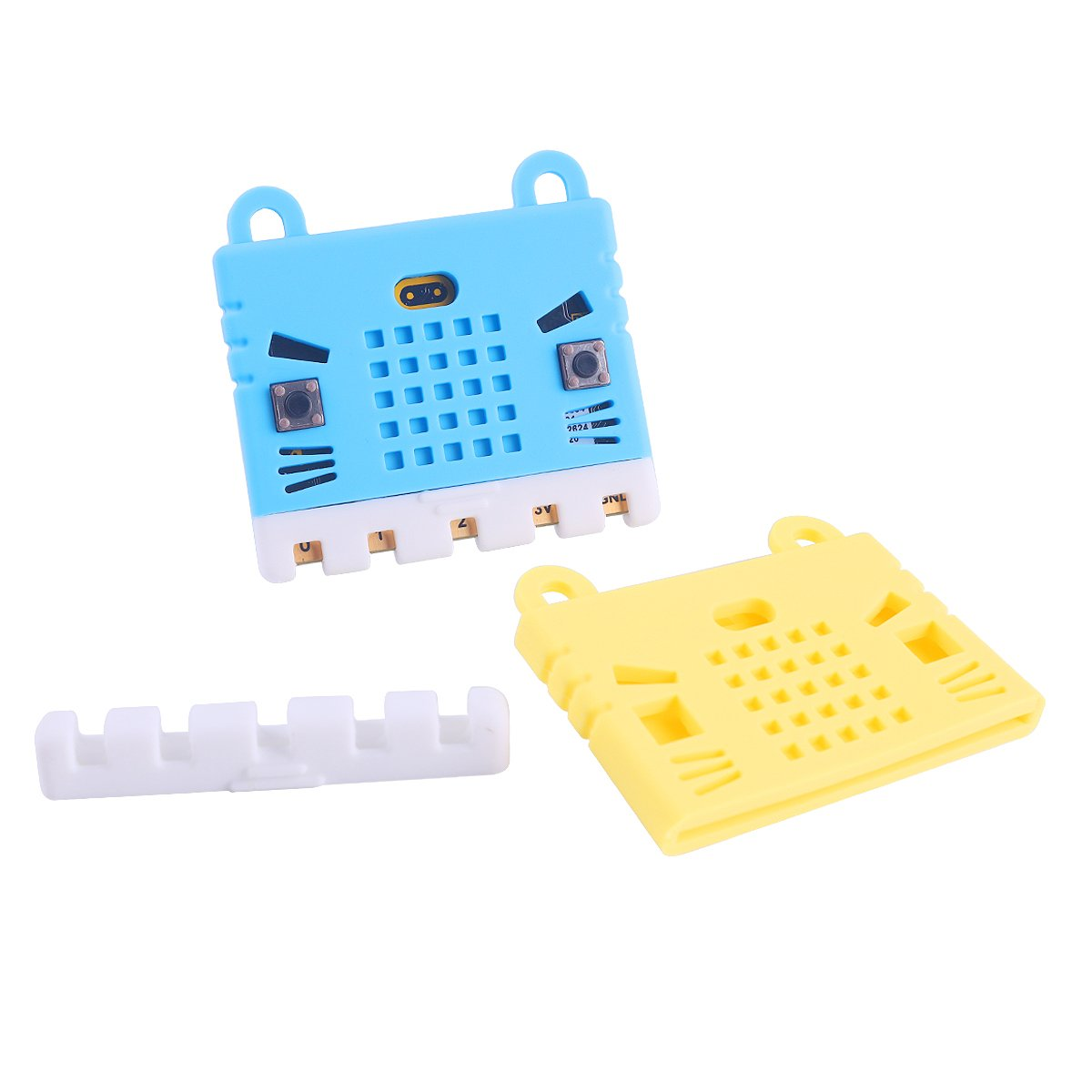 MakerFocus 2pcs Micro:bit Protective Case Non-acrylic Silicone Case Cute Pattern, Soft Microfiber and Easy to Storage for BBC Micro:bit Board Blue and Yellow
