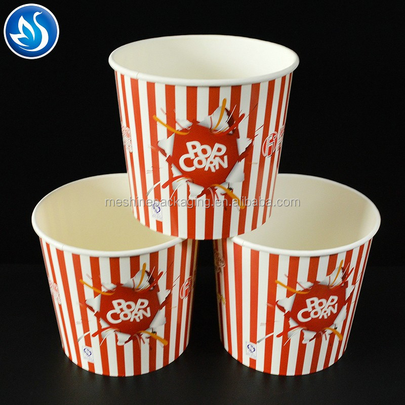 Fancy Custom Printed Paper Popcorn packaging box,large popcorn boxes