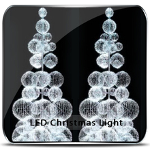 outdoor giant led christmas ball trees
