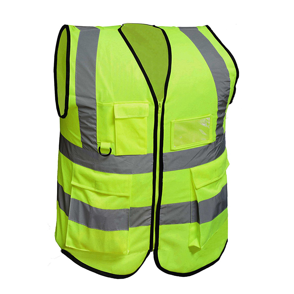 Chinese clothing factory Cheap Neon yellow <strong>Safety</strong> Walking Reflective vest