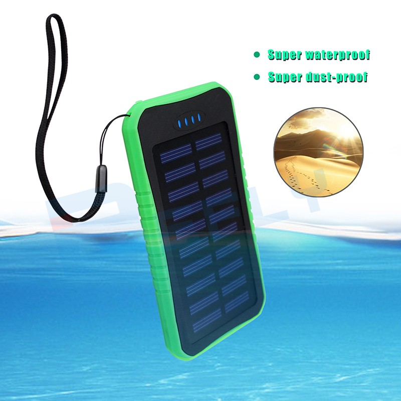 New Waterproof Solar Power Bank 4000mAh Portable Li-Polymer Battery Solar Charger Bateria Externa Pack for Mobile phone