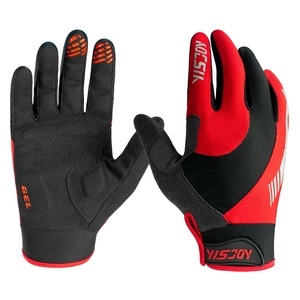 YISJOY Latest dirt bike gloves orange red mens women riding cycling MTB motocross bicycle gloves