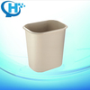 8L reverse-edge fireproof plastic small hotel room dustbin