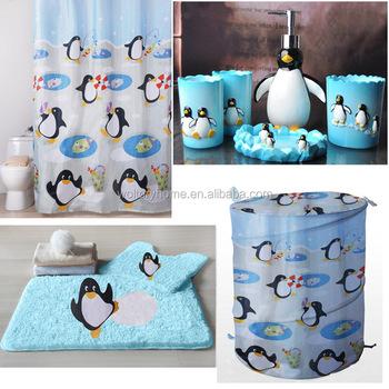 Accessori Bagno Per Bambini.Cantoon Pinguino Disegno Bambini Come Raccolta Set Accessori Bagno