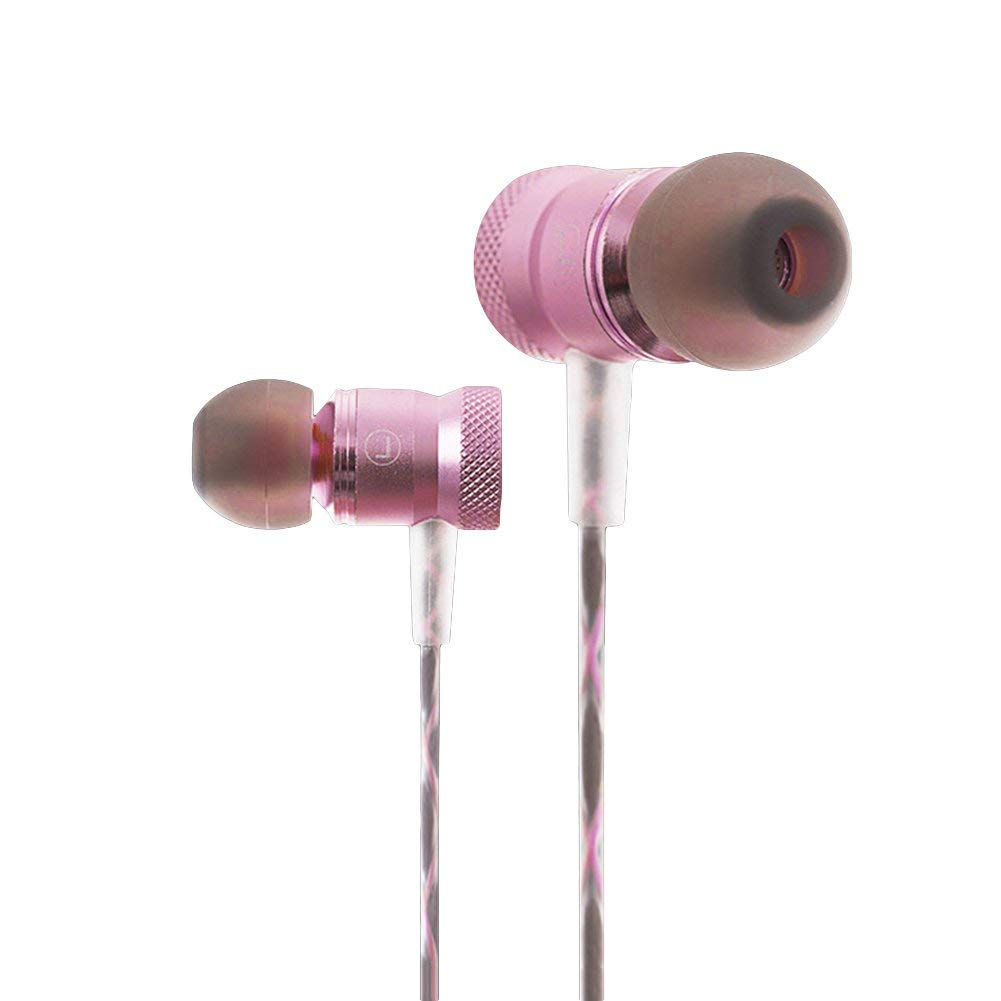 Jytrading Premium Music Wire Headphones, Super Stereo Bass Music In-Ear Wire Earphone Universal Headset Earbuds with Mic