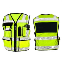 OEM Clothing Wholesale Hi-Vis Vest Green Surveyor Safety Vest Reflective Work Security running safety vest