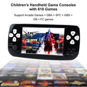 4.3 Inch TFT Screen Built in 610 Games Handheld Game Consoles with Camera Video Music Ebook Function
