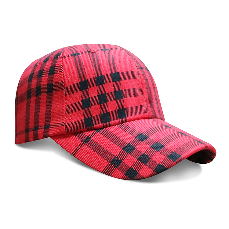 ACE New Fashionable Unisex Red Black Winter Warm Plaid Baseball Caps Hats  Womens Mens 242083ddb02