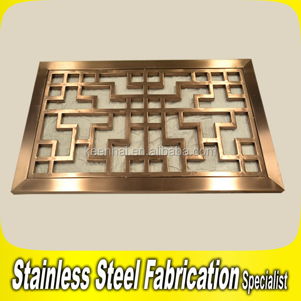Customed modern stainless steel decorative window grill for Modern zen window grills design