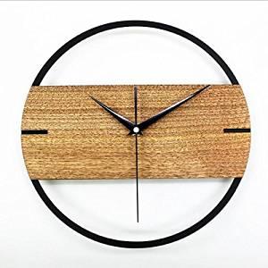 Reliable_E® Elegant Wood Wall Clock Art Deco for Living Room