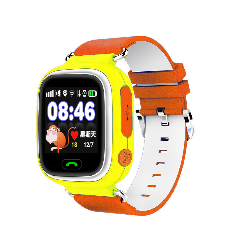 2016 new christmas gifts for kids 1.22 inch touch screen gsm gps tracker watch