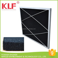 smoke odor removal air conditioning polyurethane foam carbon fiber panel filter