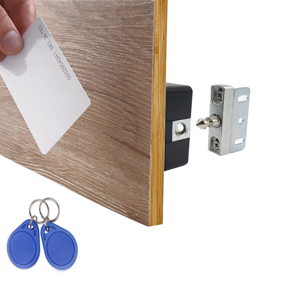 WOOCH Electronic Cabinet Lock Kit Set, Hidden DIY Lock for Cabinet Drawer Locker, RFID Card / Tag / Wristband Entry