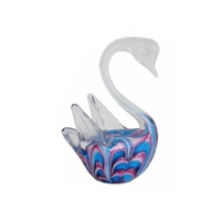 Murano glass swan for home decoration, glass figurine