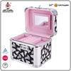 High quality fashion lockable portable mirror pvc makeup cosmetics case