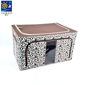 Quality zipper non woven fabric foldable storage box for home storage