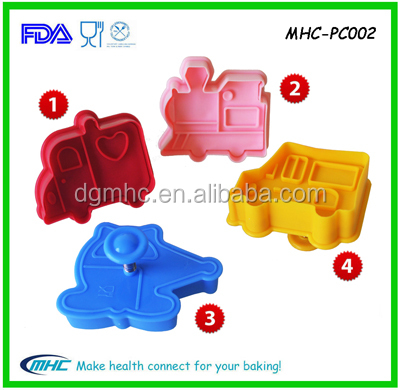New car pattern mould, popular plastic plunger cutters ,cake decoration