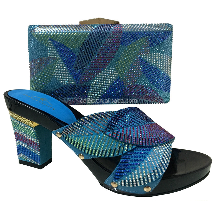 Woman Special And Nigeria Party Shoes Widely Set Used Colorful Design African Bag 0wqg04TR