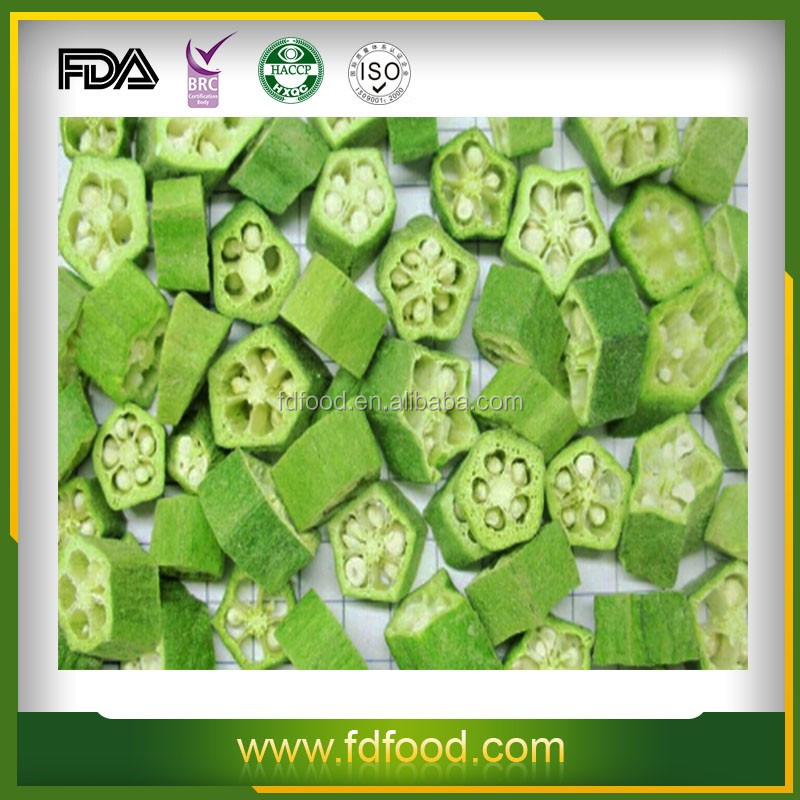 dried chinese vegetable fd Okra vegetables freeze dried vegetable