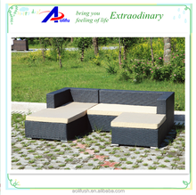 fashionable rattan outdoor furniture garden sofa set