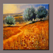 Natural Scenery Tuscan Valley and Hills View Oil Paintings for Wall Decoration