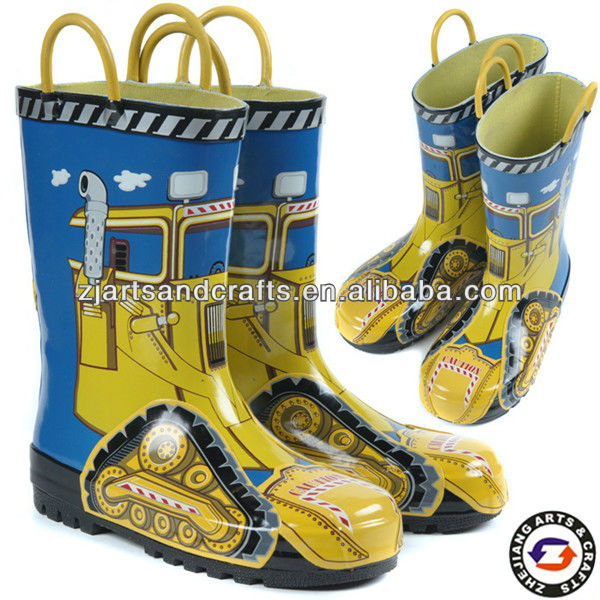 Rubber Laarzen Met Tractor Ontwerp Kids Boot Buy Kids Boot,Rubber Laarzen,Rubberen Laarzen Product on