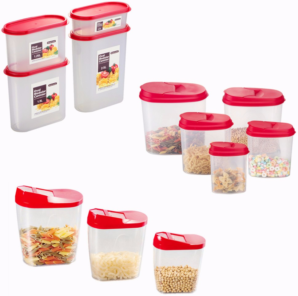 3.7L Cereal Container Keeper Great For Dry Food Storage With Airtight Blue Lid