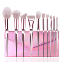 2019 New Fashion makeup brush 10pcs Powder Eyeshadow brush set OEM accept