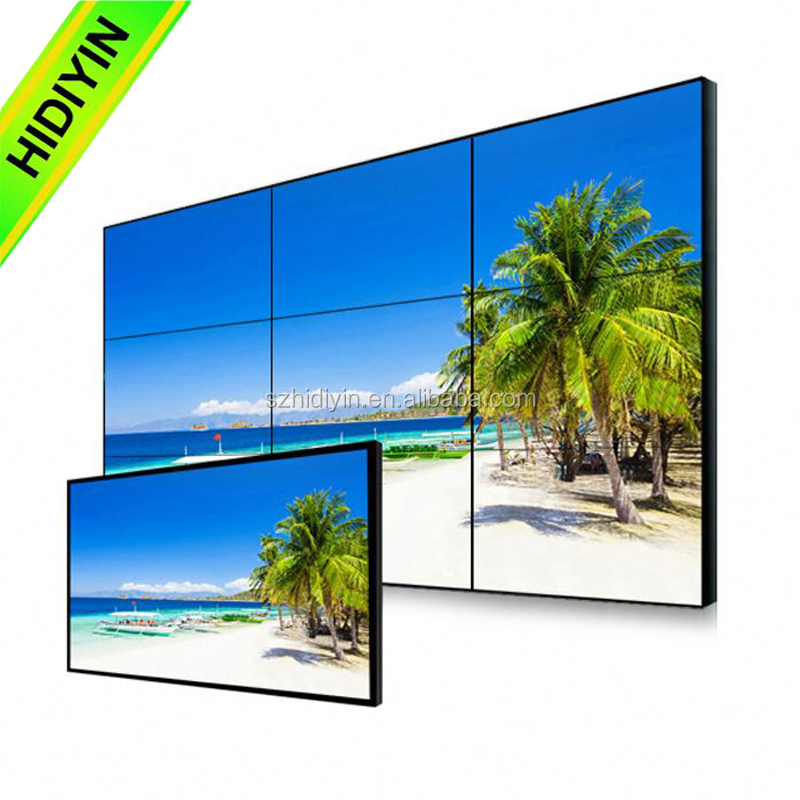 55inch video wall,splicing lcd video,splicing lcd video wall for coffee shop/bar news display high brightness 700cd/m