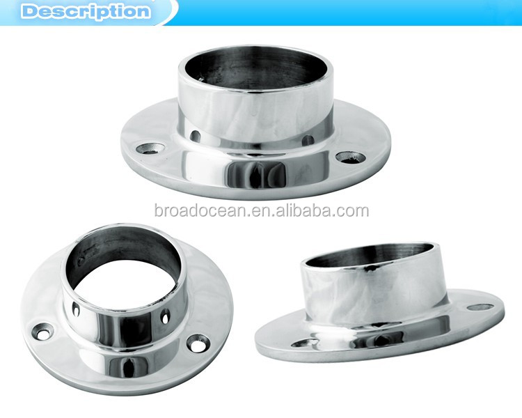 Railing stainless steel square base flange stainless steel for 1 inch square floor flange