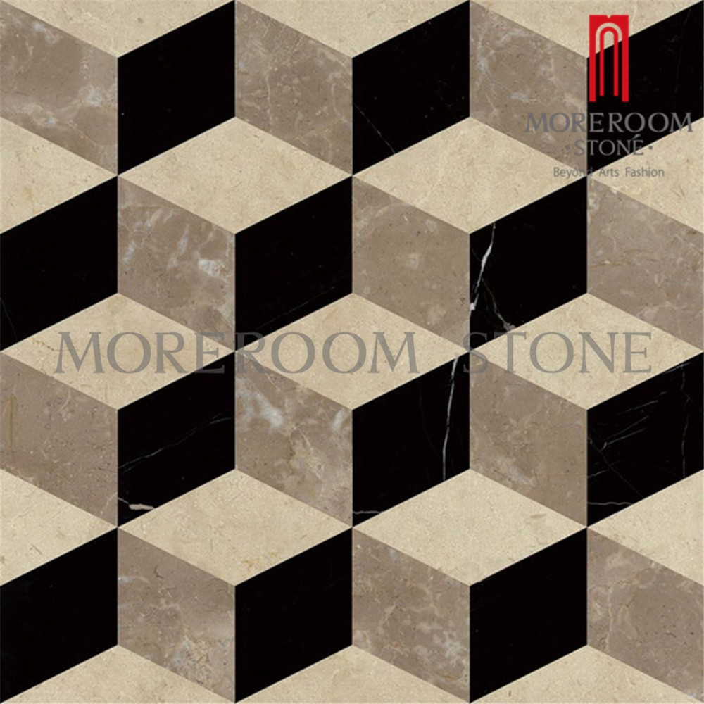 China 3d Square Diamond Shaped Marble Cube Design Marble