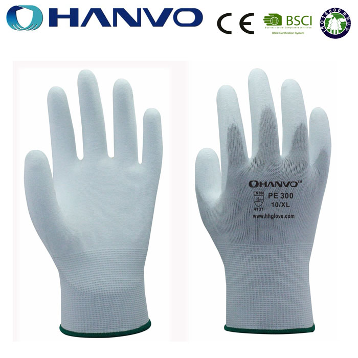 HANVO Printed Garden Gloves Nylon Liner PU Coated Women Garden Gloves