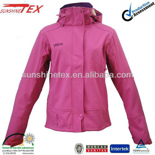 functional softshell camouflage sports jackets for woman