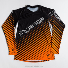 O projeto do OEM personalizado Jersey MTB <span class=keywords><strong>DH</strong></span> <span class=keywords><strong>camisas</strong></span> com tecido respirável