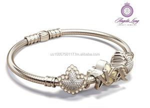 8e15057346b06 Alpha Kappa Alpha Euro Bead Bracelet