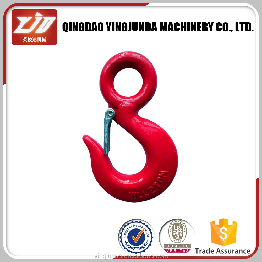 factory price eye hoist hook steel chain hook manufacturer