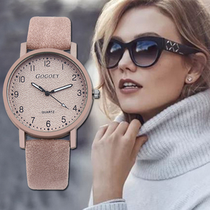 Bosally Women Watches Hot Best High Quality Luxury Quartz Watch Women Simple Leather Band Ladies WristWatches Relogio Feminino