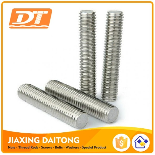 Short Thread Rod Din976 Grade 4.8 8.8 10.9 12.9 Carbon/Stainless Steel Plain Black Zinc Plated HDG Threaded Rods Bar