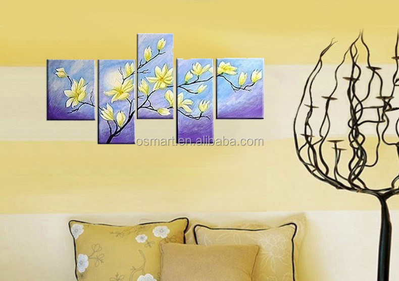 Hot Hand Painted Bamboo Landscape Wall Art Pictures Oil Painting ...