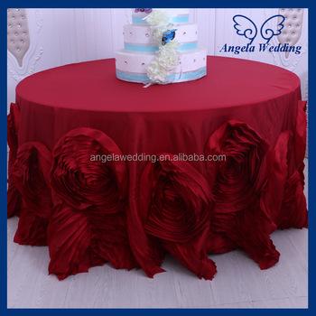 CL052M Wholesale Luxious Expensive Christmas Elegant Wedding Rosette Table  Cloth